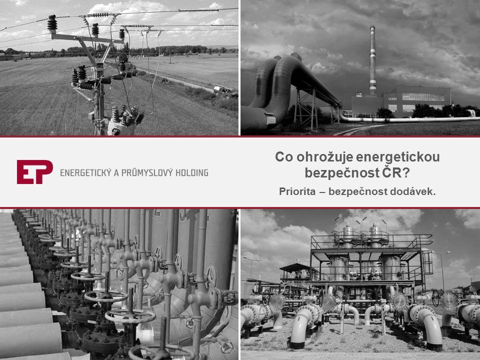 Co ohrožuje energetickou bezpečnost ČR Priorita – bezpečnost dodávek.