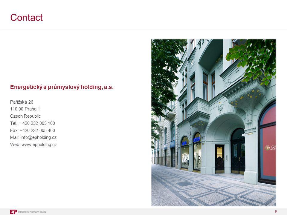 9 Contact Energetický a průmyslový holding, a.s.