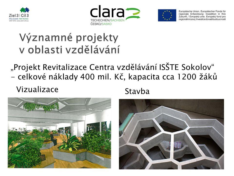 """""""Projekt Revitalizace Centra vzdělávání ISŠTE Sokolov - celkové náklady 400 mil."""