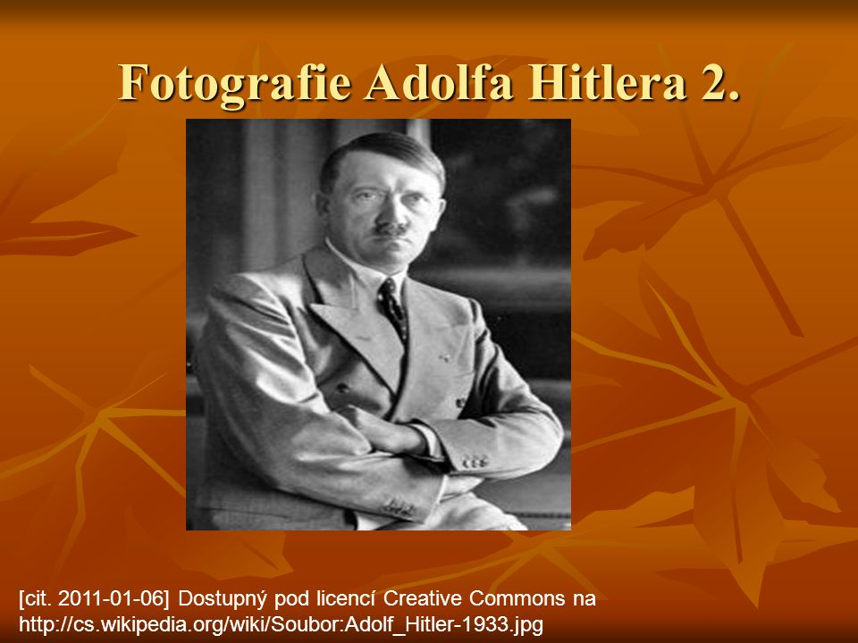 Fotografie Adolfa Hitlera 2. [cit.