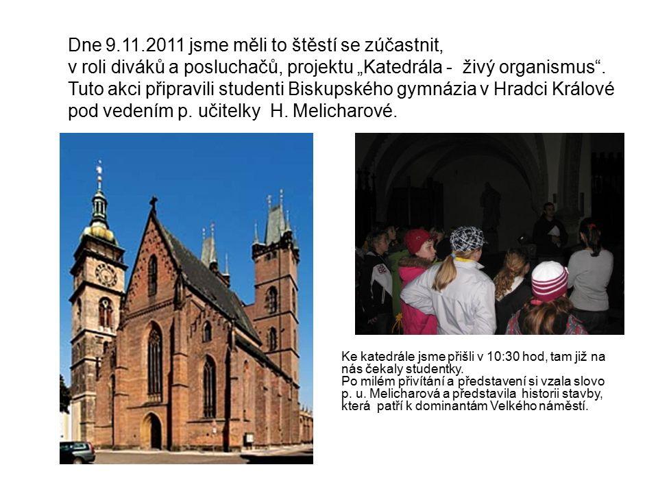 Ke katedrále jsme přišli v 10:30 hod, tam již na nás čekaly studentky.