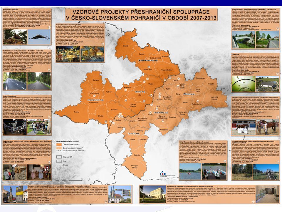 Definované území INTERREG V-A SK-CZ