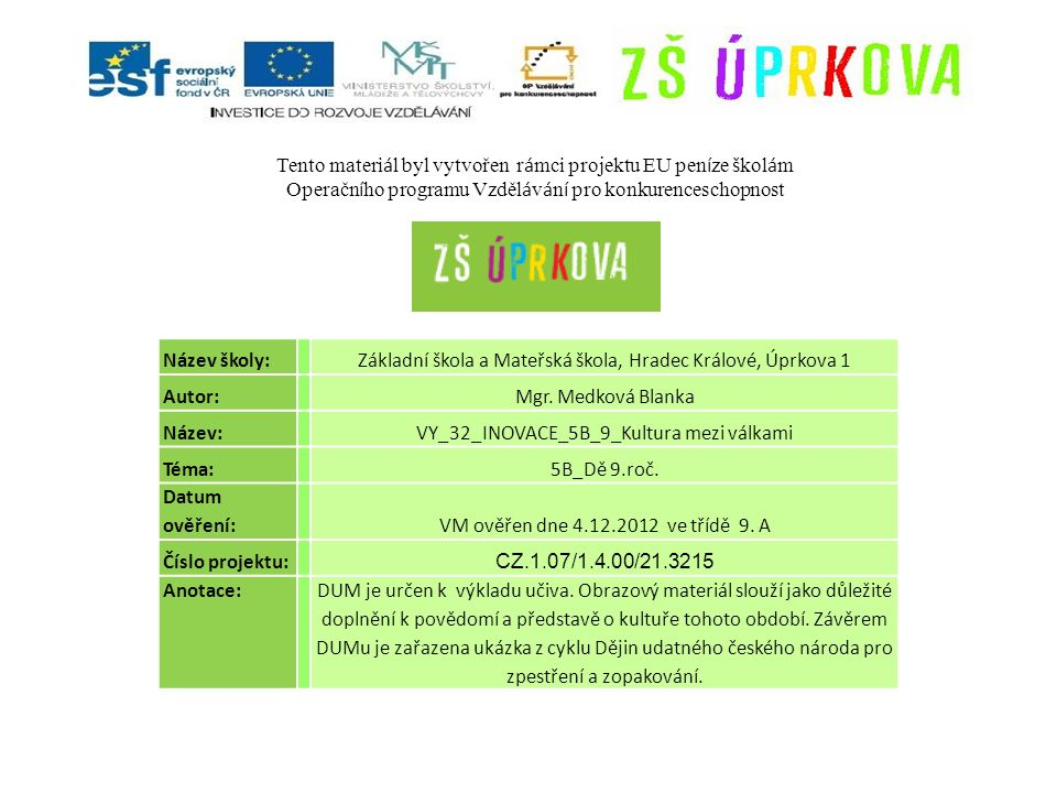 Použití zdroje: VÁLKOVÁ, Veronika.Dějepis 9, nejnovější dějiny pro základní školy.