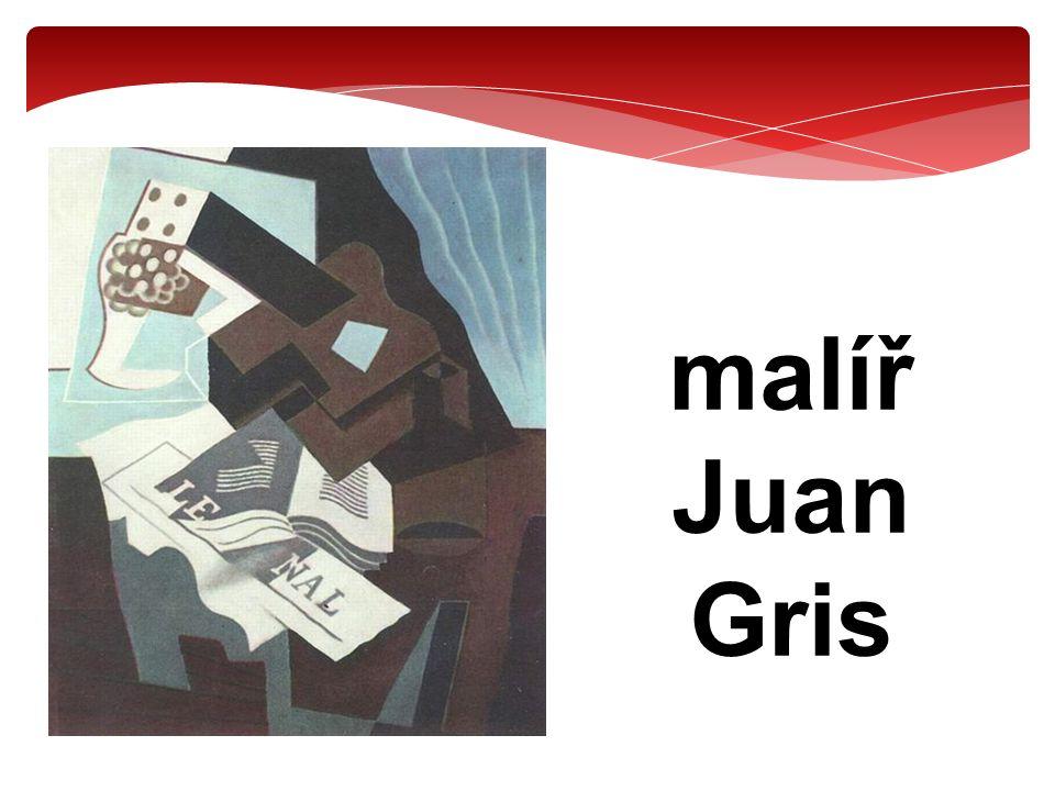 malíř Juan Gris – portrét Pabla Picassa