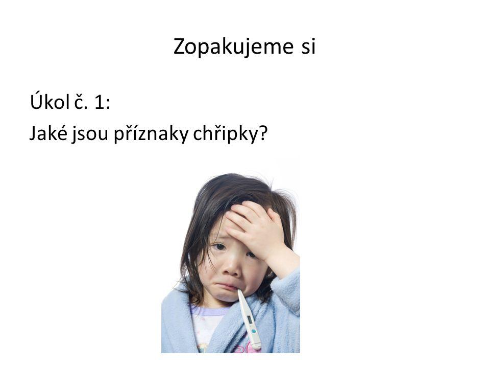 Zopakujeme si Úkol č. 1: Jaké jsou příznaky chřipky?