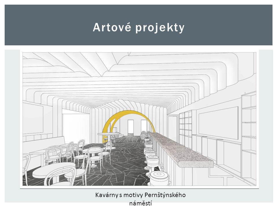 Artové projekty Kavárny s motivy Pernštýnského náměstí