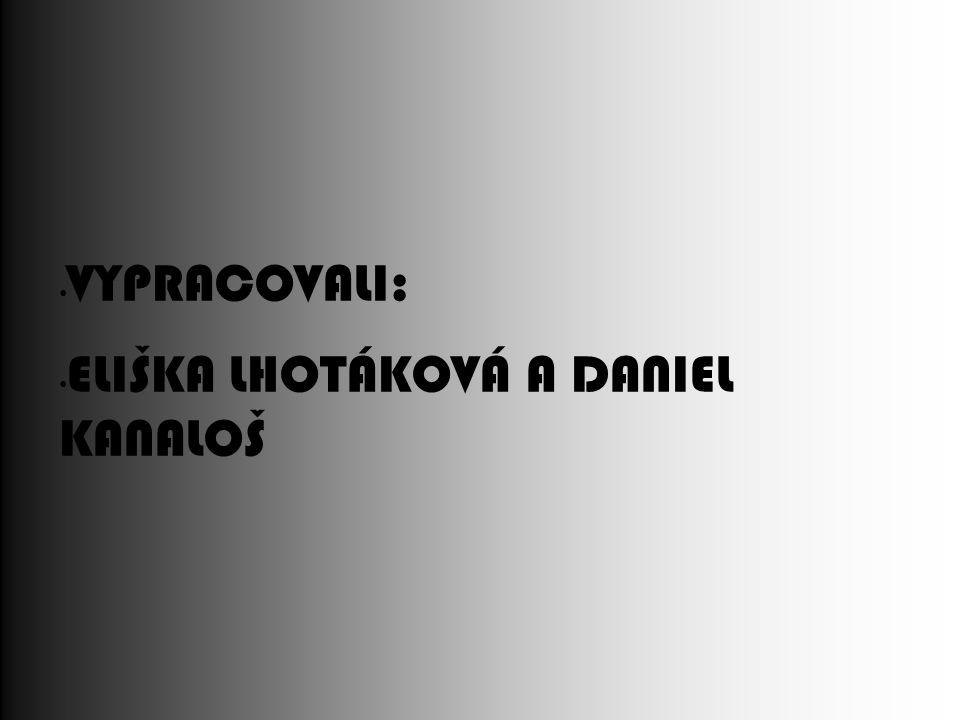 VYPRACOVALI: ELIŠKA LHOTÁKOVÁ A DANIEL KANALOŠ