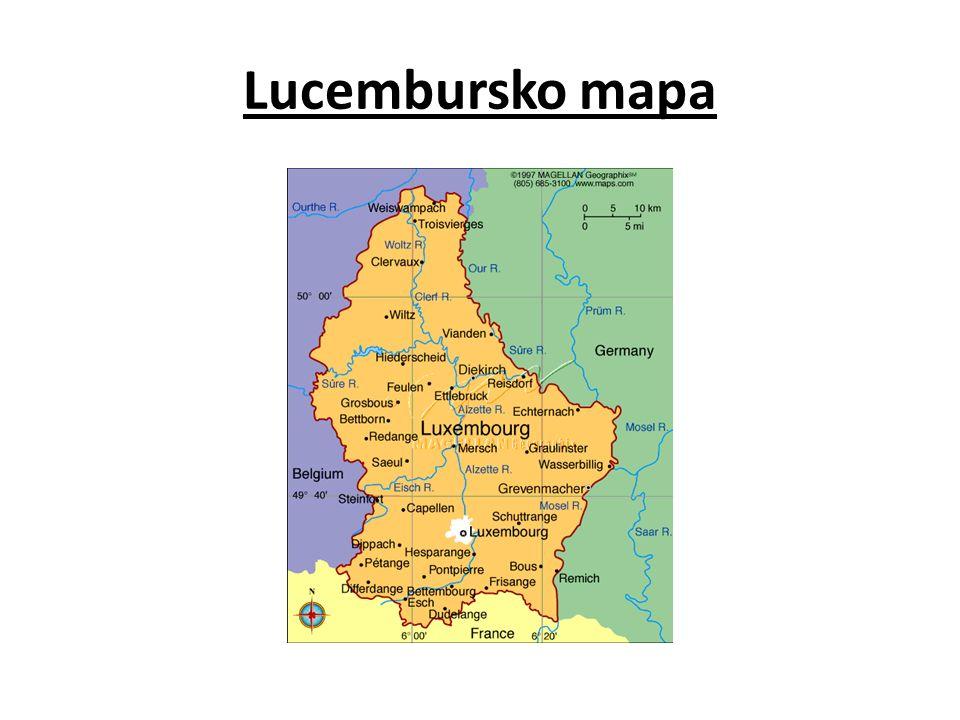 Lucembursko mapa