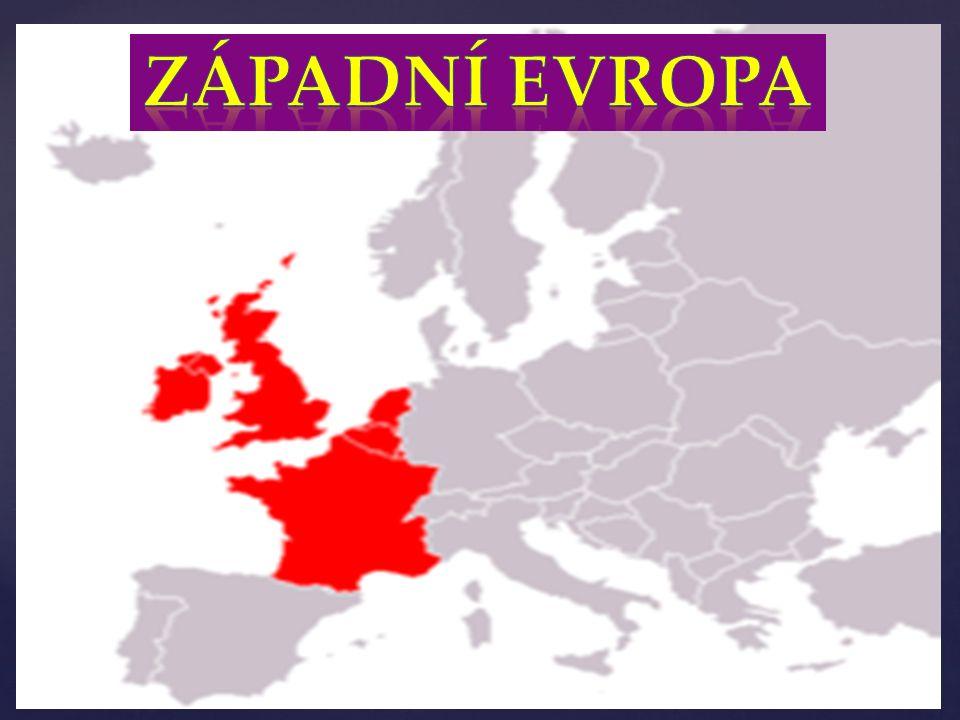 hospodářsky nejvyspělejší část světa nejhustěji obydlená oblast Evropy vyrábějí se zde automobily, letadla, lodě, elektrotechnické přístroje a stroje