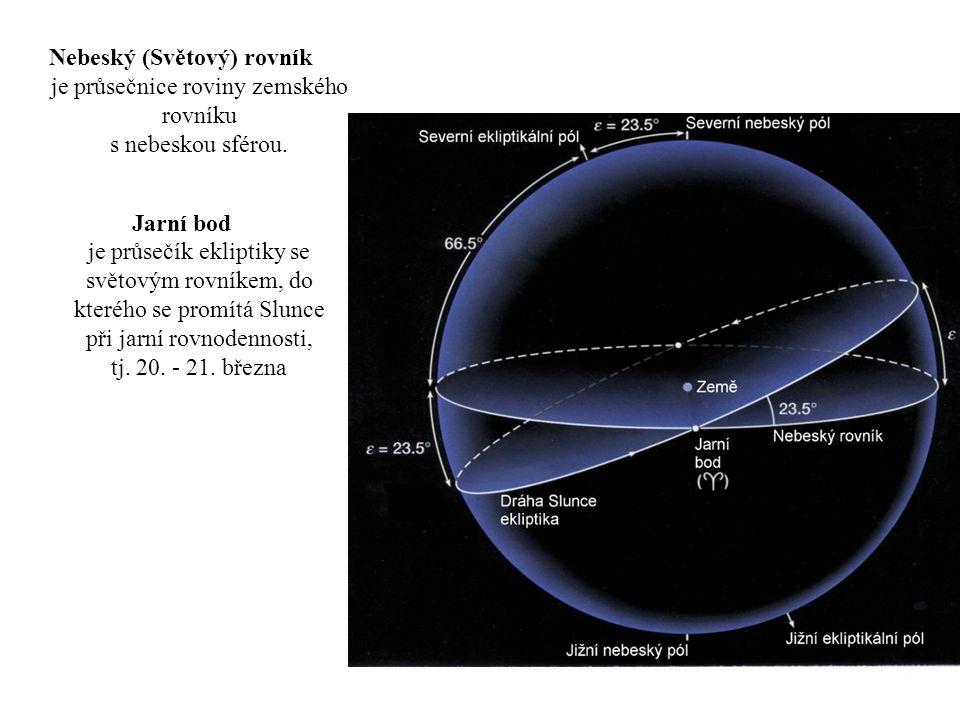 Nebeský (Světový) rovník je průsečnice roviny zemského rovníku s nebeskou sférou.