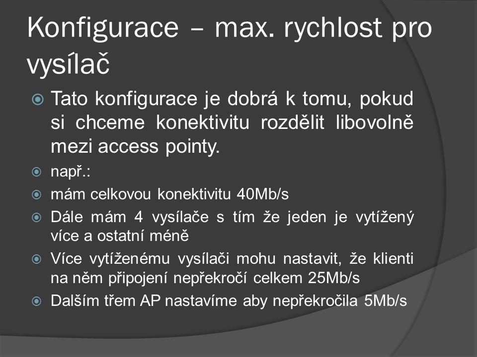 Konfigurace – max.