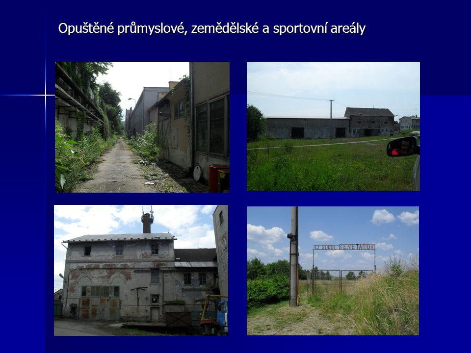 Opuštěné průmyslové, zemědělské a sportovní areály