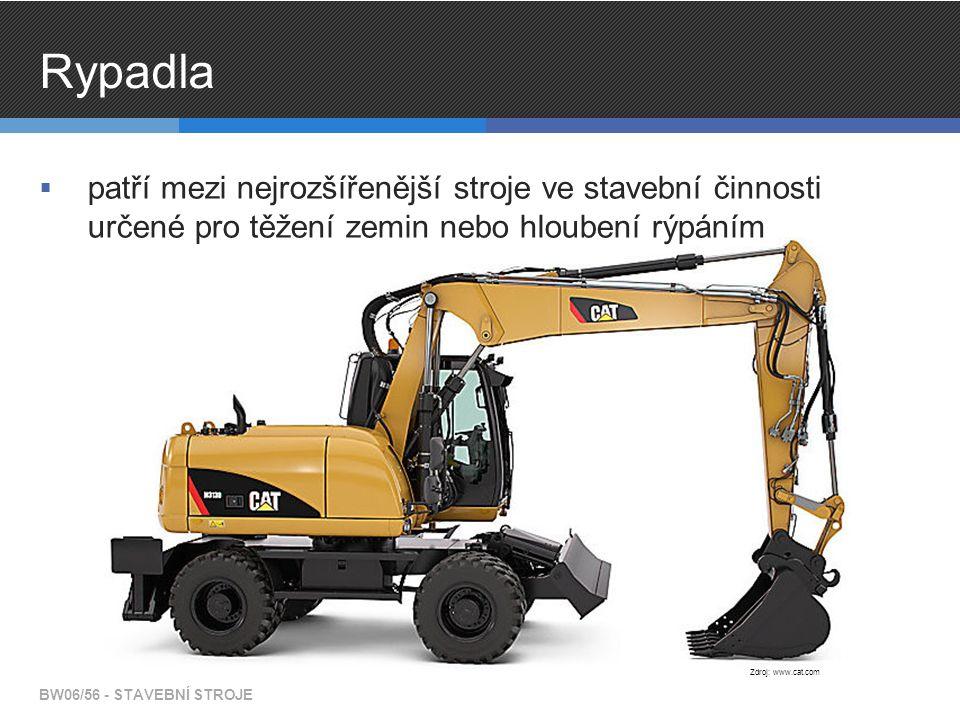 Rypadla  patří mezi nejrozšířenější stroje ve stavební činnosti určené pro těžení zemin nebo hloubení rýpáním BW06/56 - STAVEBNÍ STROJE Zdroj: www.ca