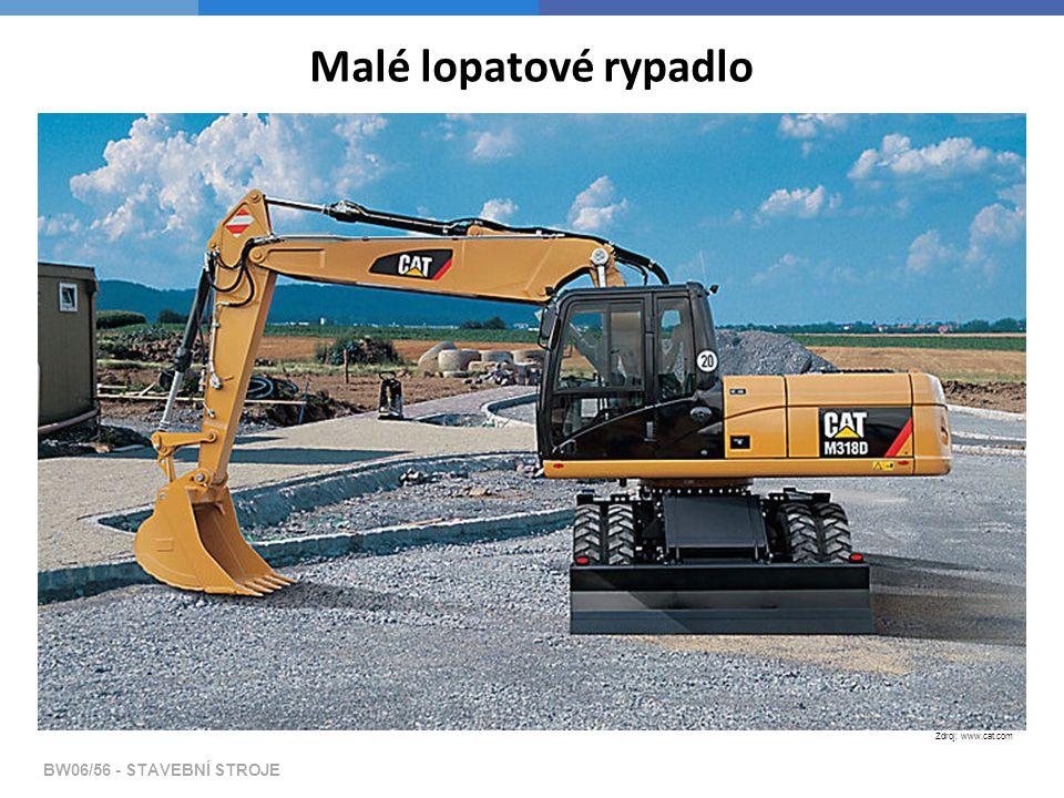Malé lopatové rypadlo Zdroj: www.cat.com