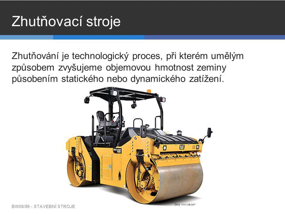 Zhutňovací stroje Zhutňování je technologický proces, při kterém umělým způsobem zvyšujeme objemovou hmotnost zeminy působením statického nebo dynamického zatížení.