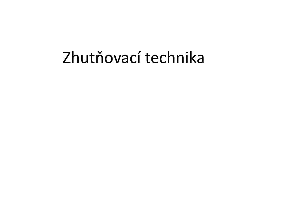 Zhutňovací technika