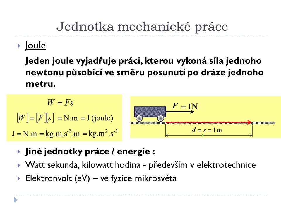 Mechanická práce příklady a) b) c) d) a) b) c) d) a) b) c) d)