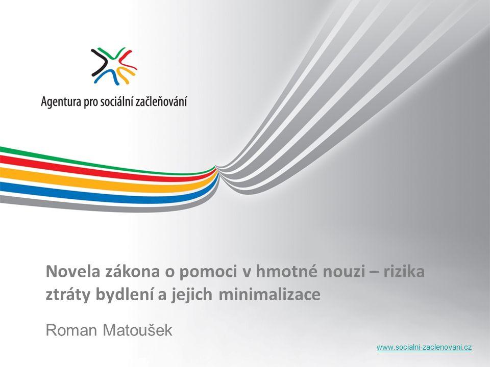www.socialni-zaclenovani.cz Novela zákona o pomoci v hmotné nouzi – rizika ztráty bydlení a jejich minimalizace Roman Matoušek