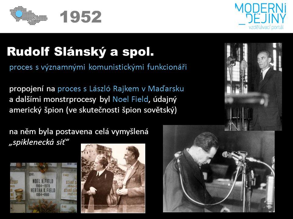 1950 1952 Rudolf Slánský a spol.