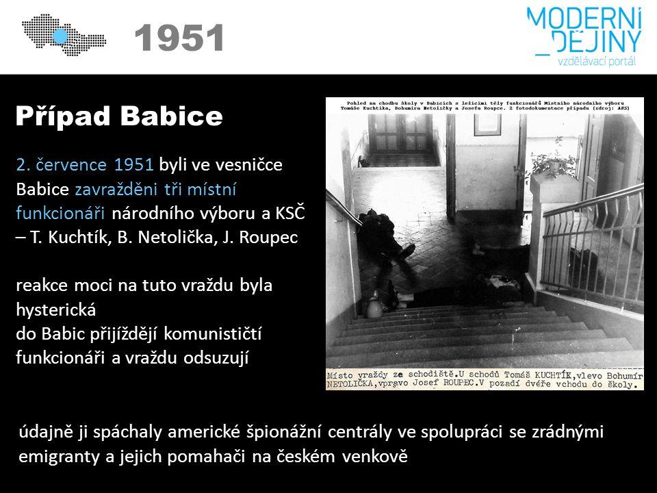 1950 1951 Případ Babice 2.