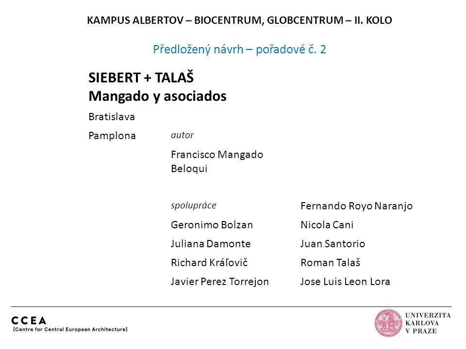 SIEBERT + TALAŠ Mangado y asociados Bratislava Pamplona autor Francisco Mangado Beloqui spolupráce Fernando Royo Naranjo Geronimo BolzanNicola Cani Ju