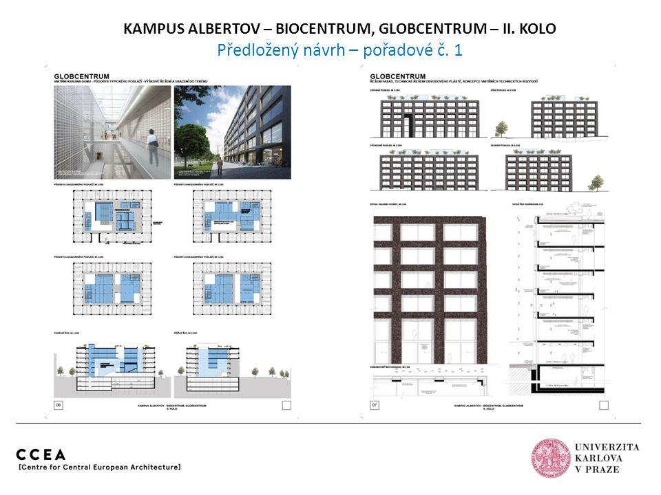 Atelier M1 architekti Praha autořispolupráce Pavel JobaMichal Tichý Jakub HavlasJakub Straka Jan HájekVojtěch Šaroun KAMPUS ALBERTOV – BIOCENTRUM, GLOBCENTRUM – II.