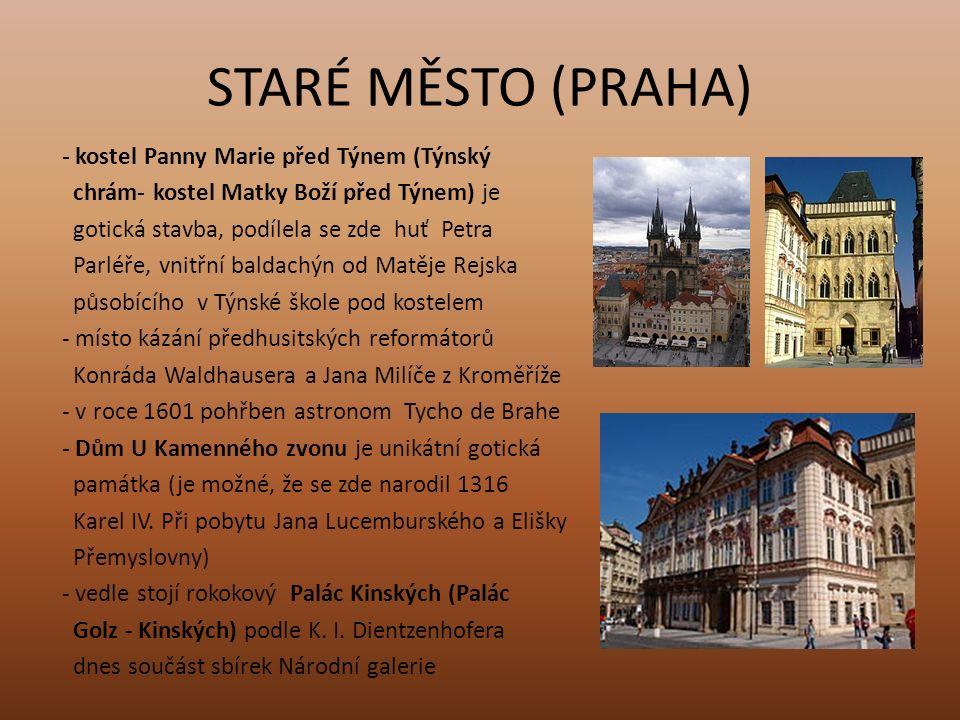 STARÉ MĚSTO (PRAHA) - kostel svatého Mikuláše postaven K.