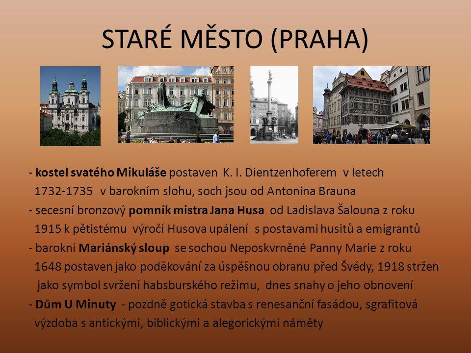 STARÉ MĚSTO (PRAHA) - Anežský klášter (klášter svaté Anežky české) založen dcerou Přemysla Otakara II.