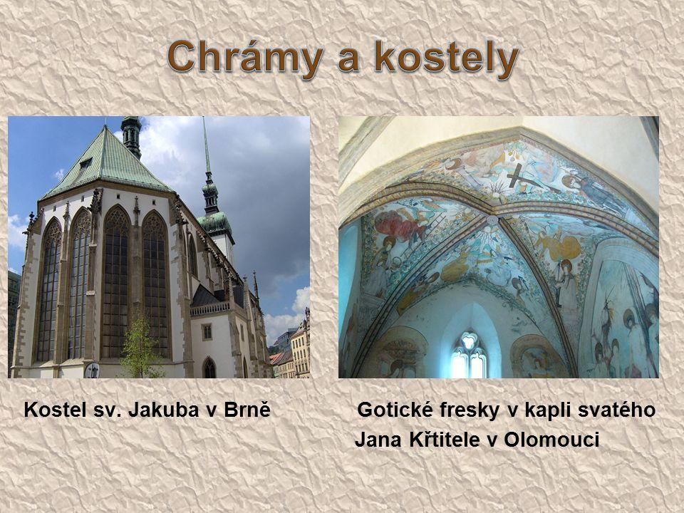 Kostel sv. Jakuba v BrněGotické fresky v kapli svatého Jana Křtitele v Olomouci