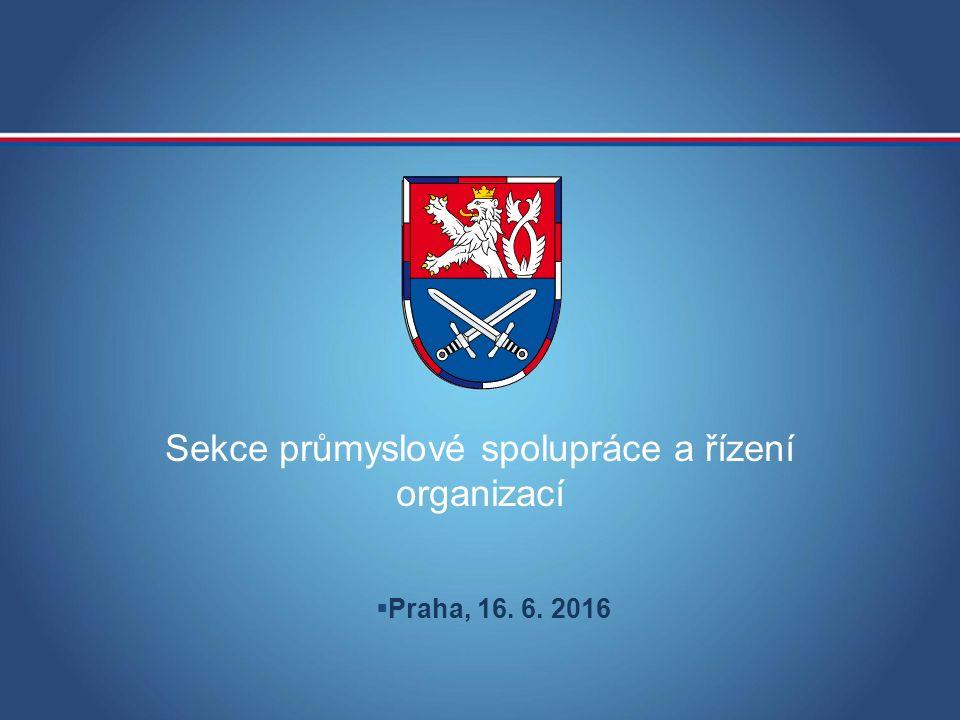 Sekce průmyslové spolupráce a řízení organizací  Praha, 16. 6. 2016