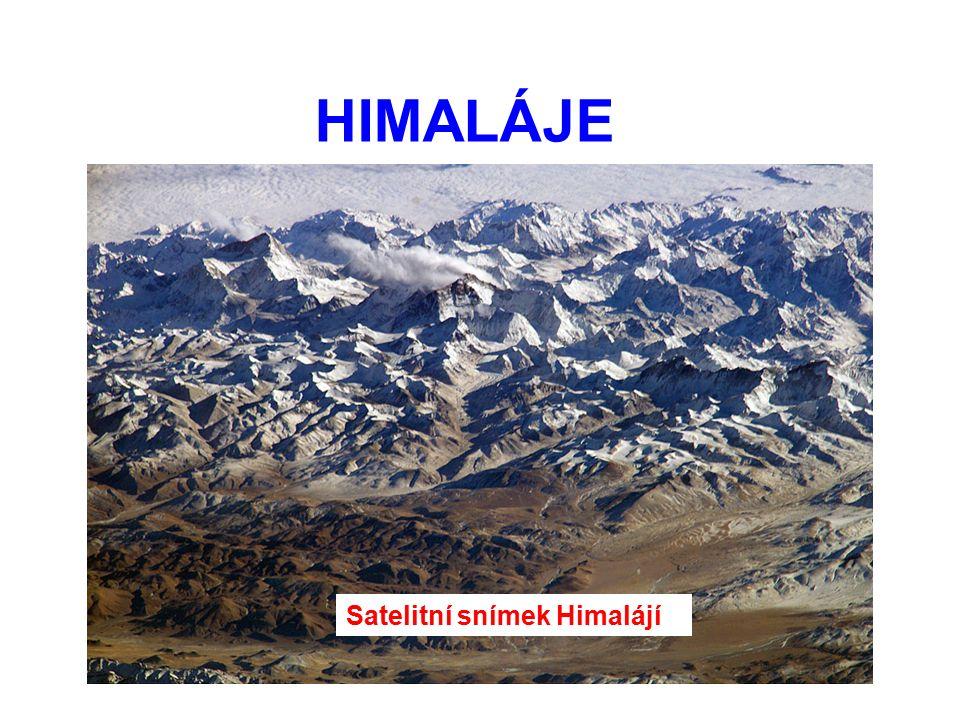HIMALÁJE Satelitní snímek Himalájí