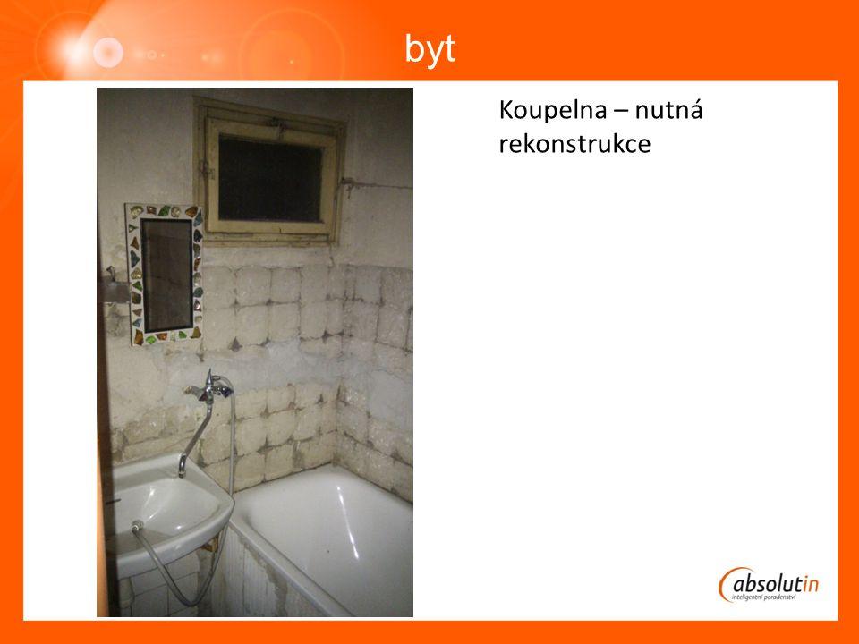 byt Koupelna – nutná rekonstrukce
