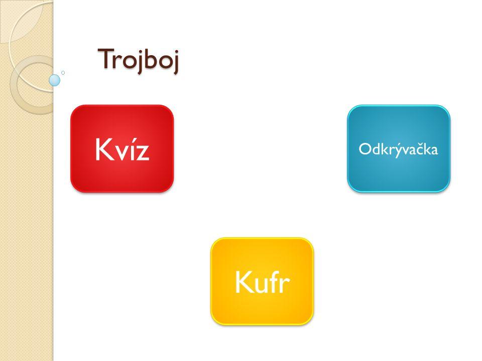 Trojboj Kvíz Kufr Odkrývačka