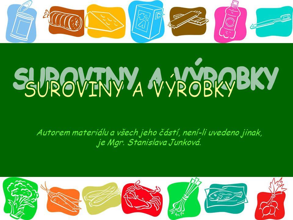 Autorem materiálu a všech jeho částí, není-li uvedeno jinak, je Mgr. Stanislava Junková.