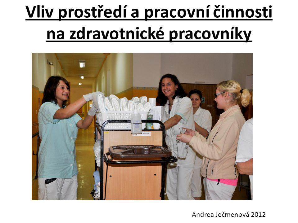 Vliv prostředí a pracovní činnosti na zdravotnické pracovníky Andrea Ječmenová 2012