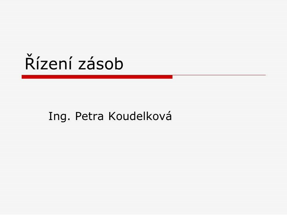 Řízení zásob Ing. Petra Koudelková