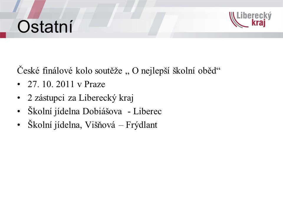 """Ostatní České finálové kolo soutěže """" O nejlepší školní oběd 27."""