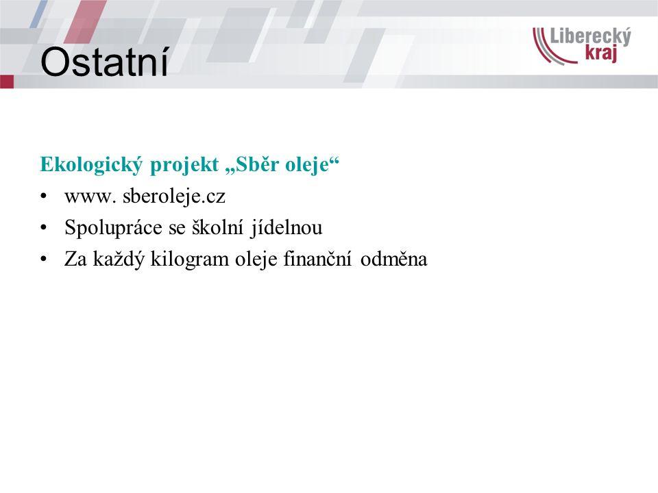 """Ostatní Ekologický projekt """"Sběr oleje www."""