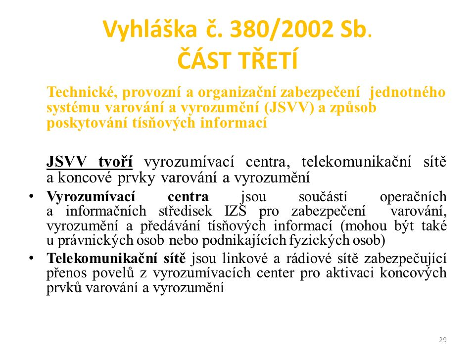 Vyhláška č. 380/2002 Sb.