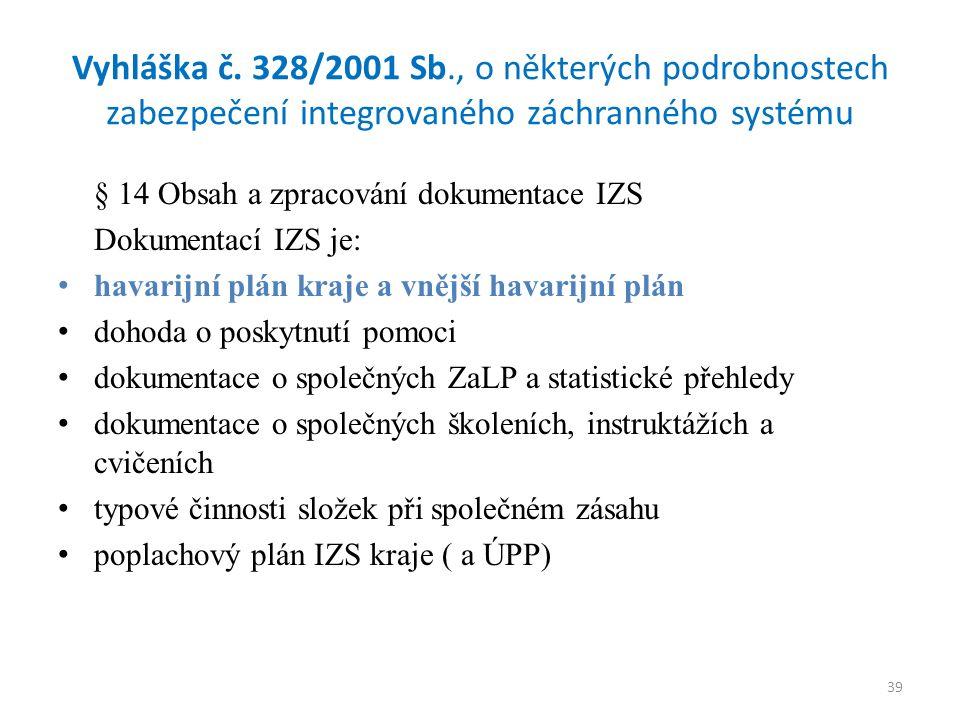 39 Vyhláška č.