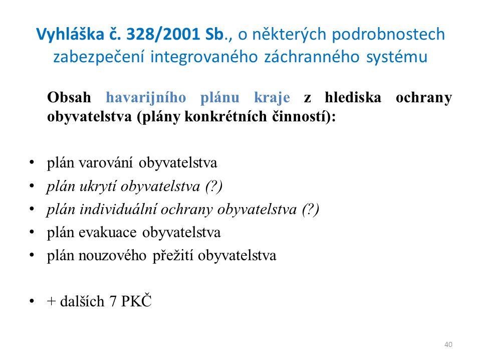40 Vyhláška č.