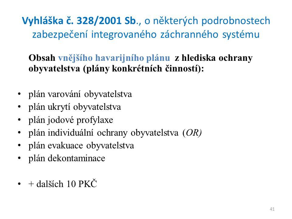 41 Vyhláška č.
