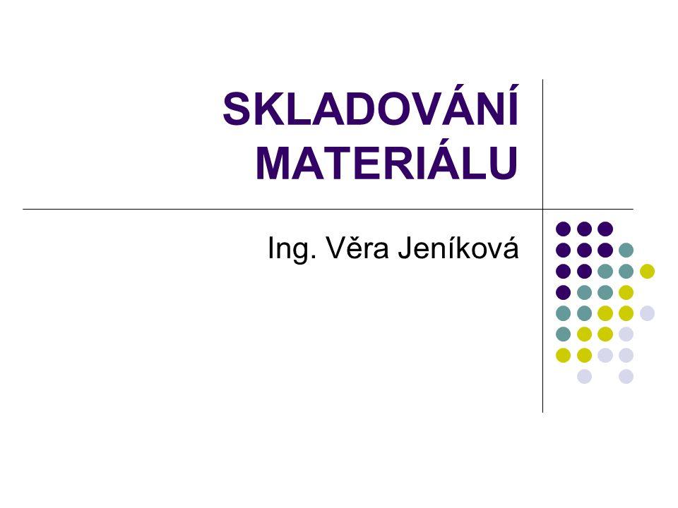 SKLADOVÁNÍ MATERIÁLU Ing. Věra Jeníková