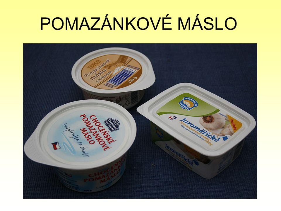 VADY MÁSLA - hořká chuť - kyselá a žluklá chuť - plíseň - porušený obal - prošlá záruční lhůta - nedostatečné označení