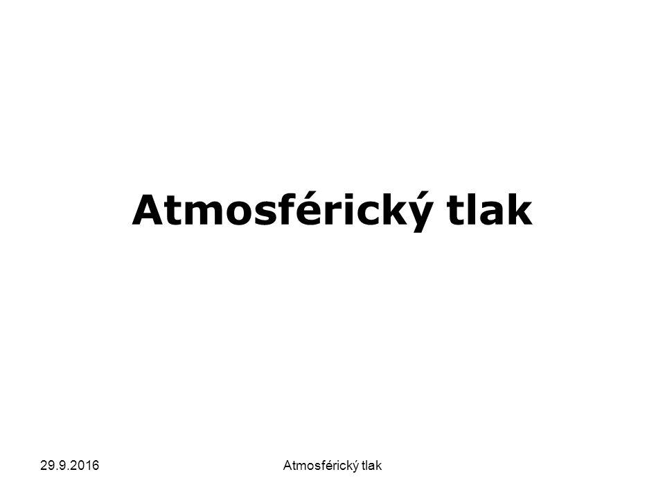 29.9.2016Atmosférický tlak