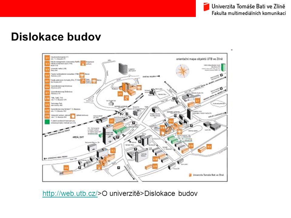 Studijní oddělení – úřední hodiny Budova U4, místnost č.