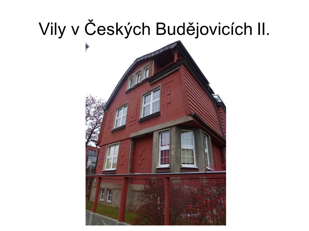 Vily v Českých Budějovicích II.