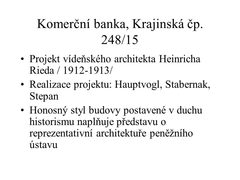 Komerční banka, Krajinská čp.