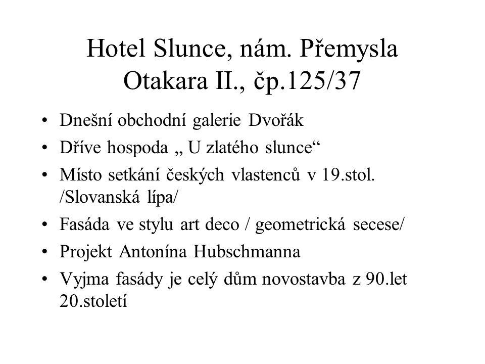 Hotel Slunce, nám.