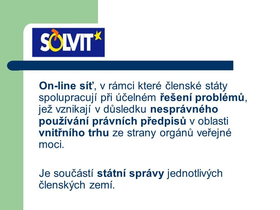 On-line síť, v rámci které členské státy spolupracují při účelném řešení problémů, jež vznikají v důsledku nesprávného používání právních předpisů v o